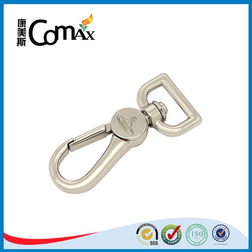 Bag metal swivel hook with engraved logo