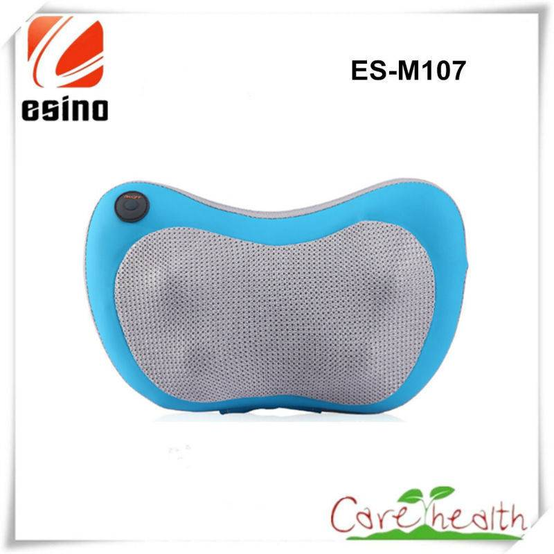Es-m107 Kneading Massage Neck Pillow/Electric Pillow Massager for Car and Home Use