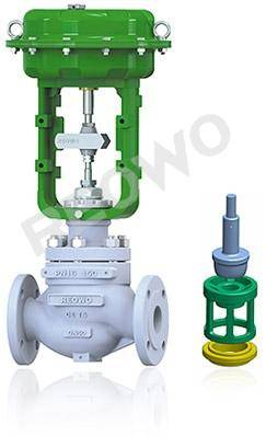 10P00 top guided single-seat control valve