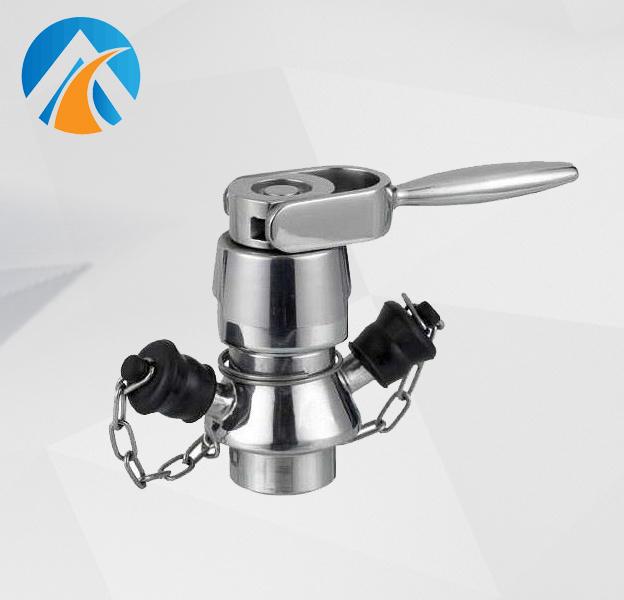 Sanitary stainless steel aseptic sampling valve