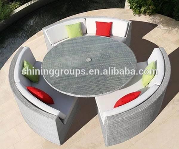 Hot Sale Outdoor Round Rattan Sofa Set C1124-3