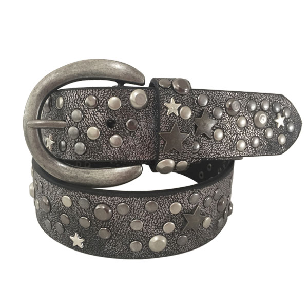 New Arrival PU Leather Unisex Studded Belt for Sale [JB16176-2-ST]