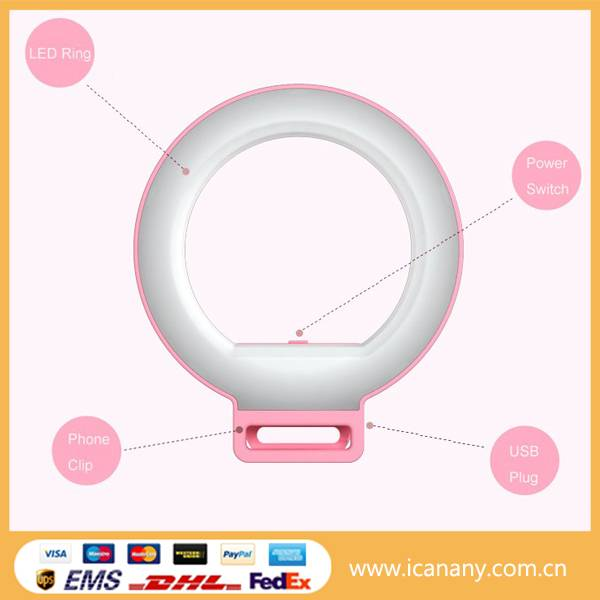 2016 China manufacturer circle Selfie Fill Light selfie ring light LED Flash Ring Light
