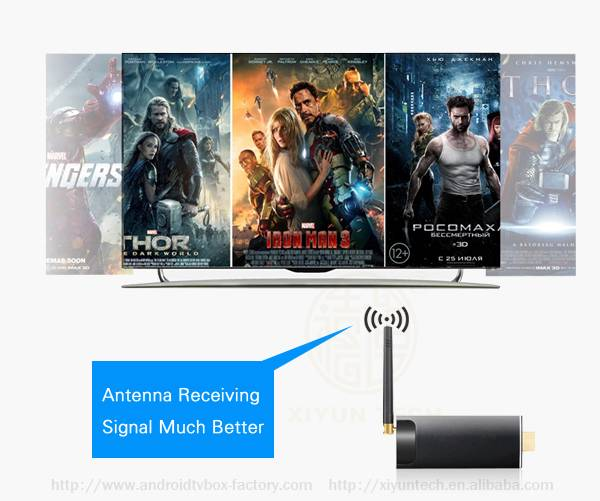 TV Dongle Android 4.4 2GB 8GB 2K4K with Remote Beta IPTV Providers