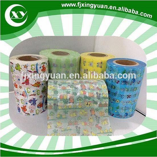 Printed Frontal Tape for Baby Diapers Materials