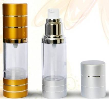 30ml 50ml aluminum cap plastic material airless perfume bottle use for lotion