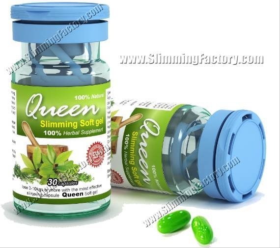 Queen weight loss Soft gel-GMP manufacturer supply with fast weight loss formula (100% herbal)