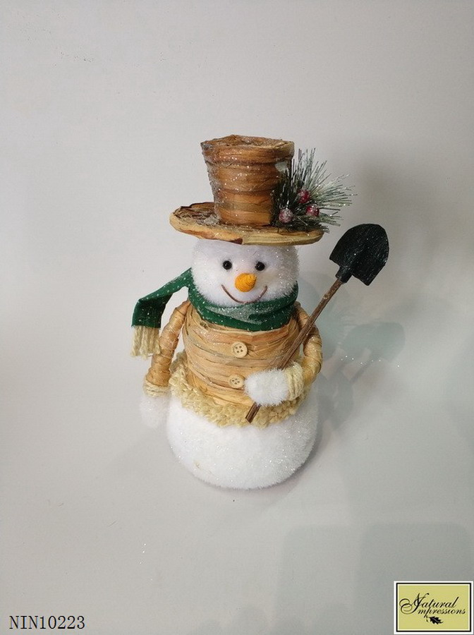 christmas snowman with scoop decoration