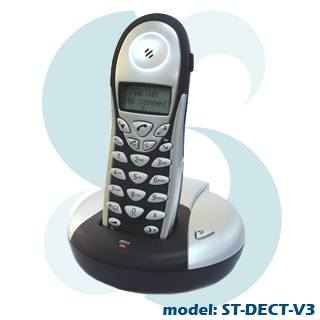DECT WIRELESS PSTN / SKYPE 2-IN-1 Phone W/ LCD Display ST-DECT-V3