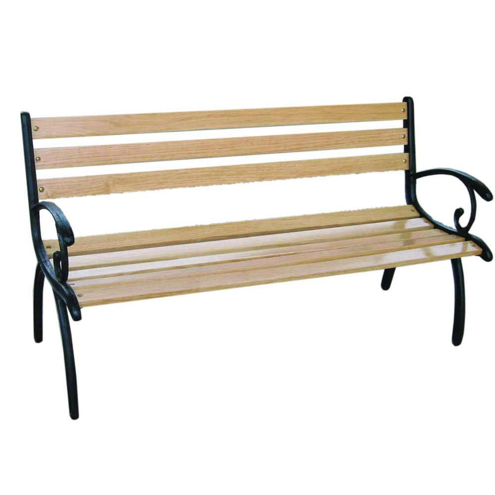 Simple cast iron garden bench G210