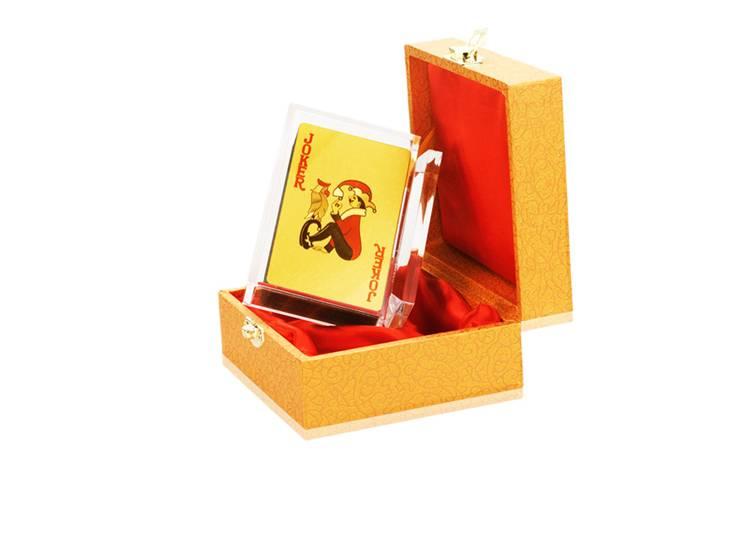 24K Gold foil Joker for entertainment