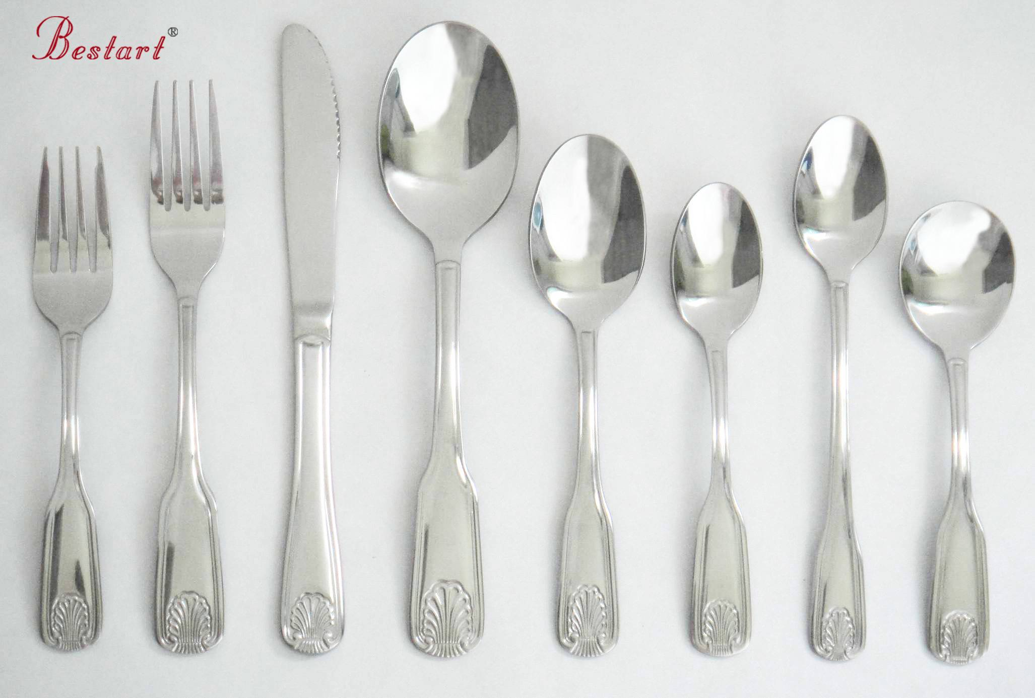 2016 mirror polish stainless steel chinese wholesale cutlery set