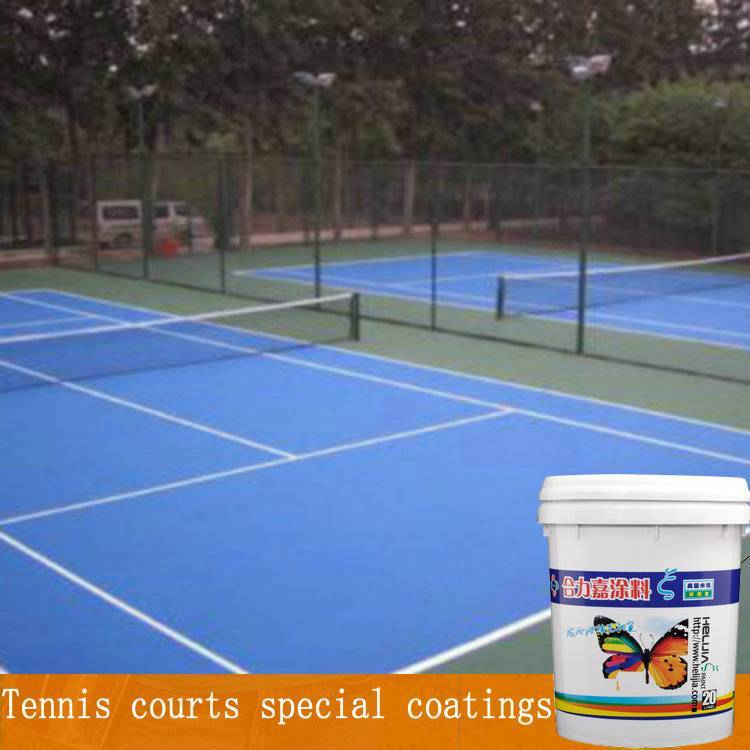 Tennis courts special coatings