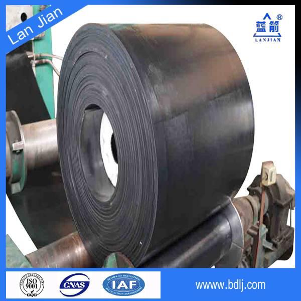 flat Nylon belt rubber conveyor, 10mpa rubber conveyor belt