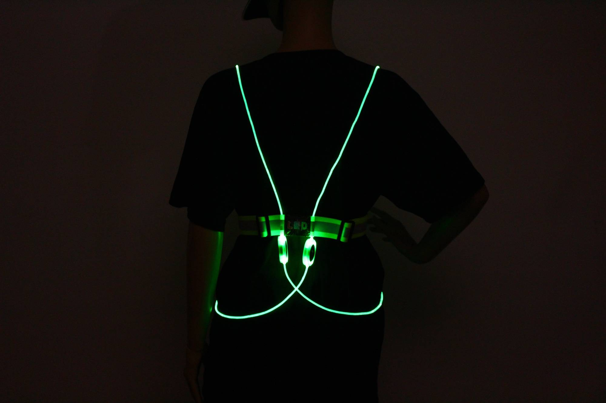 LED Running Vest & Belt, High Visibility with Reflective Belt for Safety, Running and Cycling
