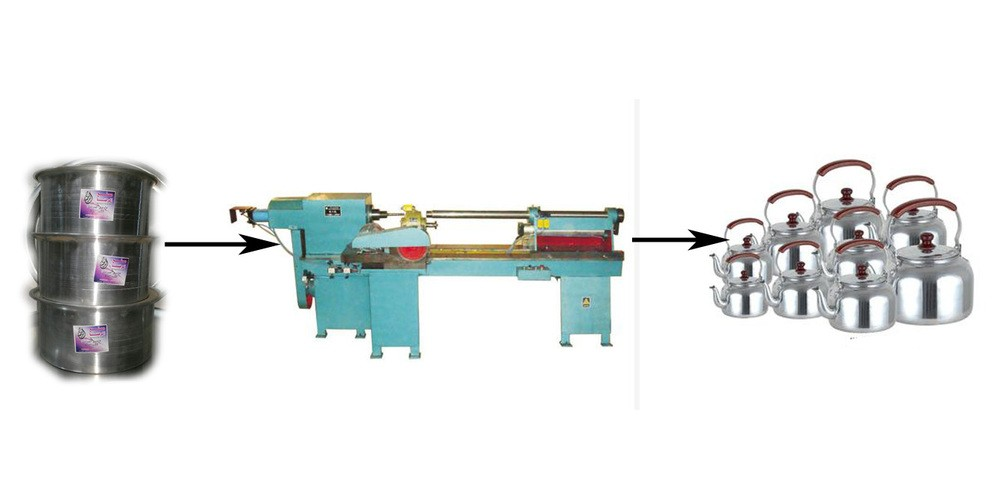 Trimming & spinning machine used for kettle CNC metal