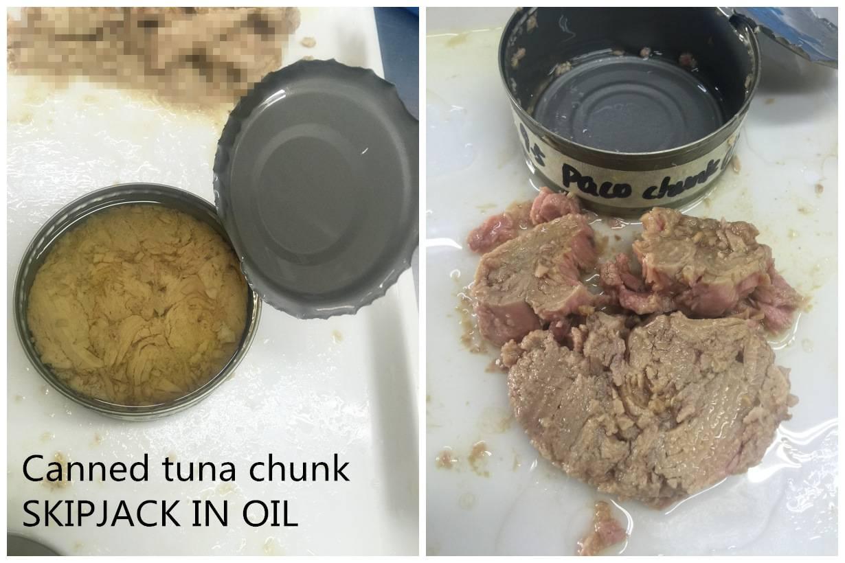 6oz Canned skipjack tuna chunk in oil 48X170g