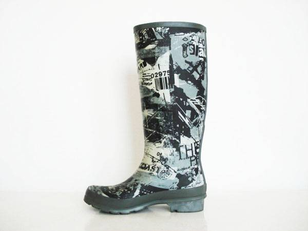 2015 Latest Rubber Rain Boots For Ladies