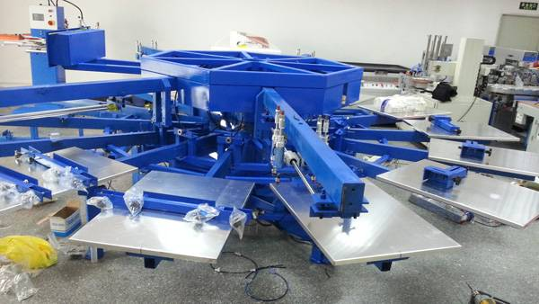 Automatic rotary t-shirt screen printing machine