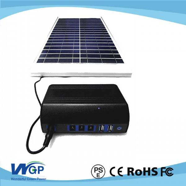 Mini portable solar generator system for home