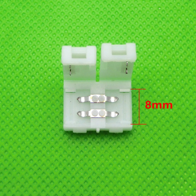 2pin 8mm Free Solder led strip Connector For 3528 2835 Single Color LED Strip