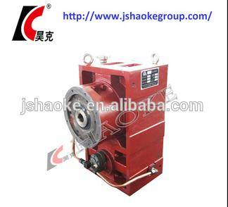 High efficiency helical reduction box with motor