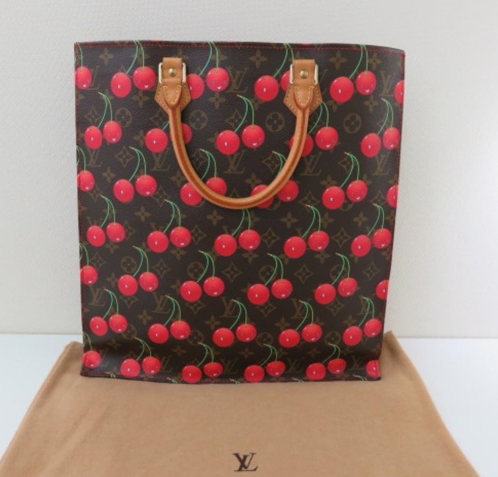 Preowned Used Brand Handbag LOUIS VUITTON N95010 Monogram CHERRY Sac plat Tote bags for bulk sale.