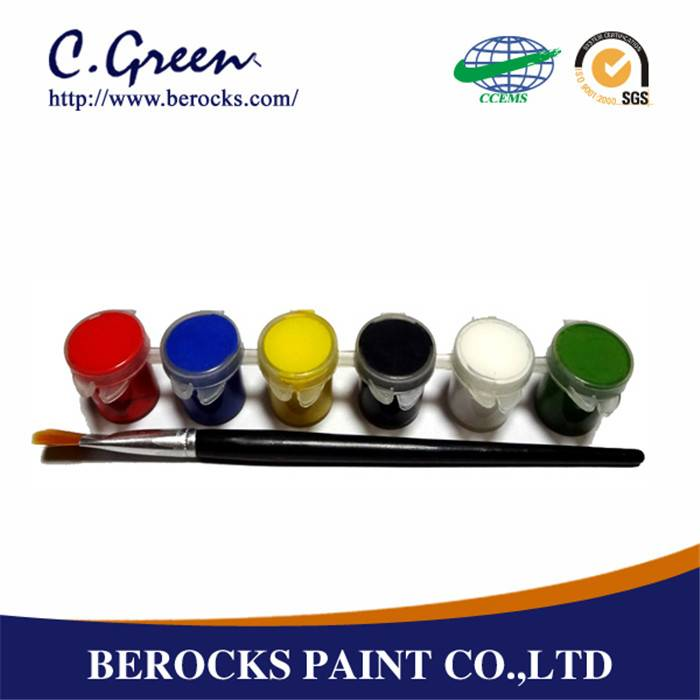 environmental-friendly colorful paint acrylic paint set mini 6ML coating