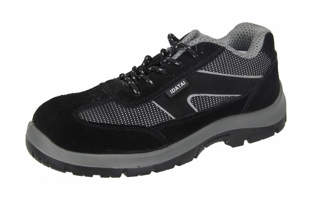 leather anti-static steel toe safety shoes