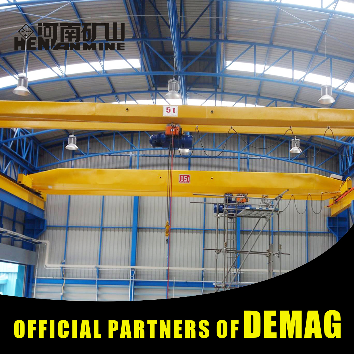 Material Handling Single Girder Stacker Crane With Double Bridge Girder