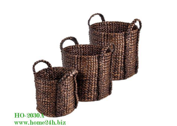 Handmade Water hyacinth baskets, cheap price & high quality
