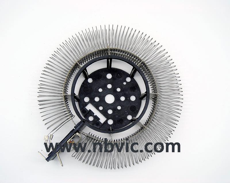 Round heating element