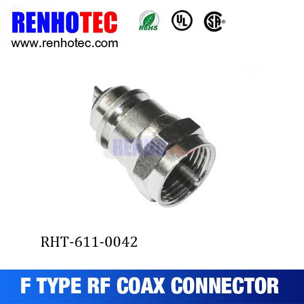 Dosin Factory price Plug F Connector Crimp FOR Coaxial Cable