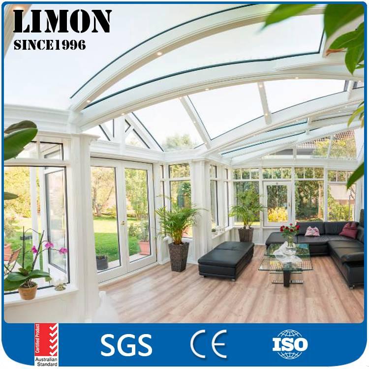 Custom made new arrival china portable curved glass aluminium sunrooms