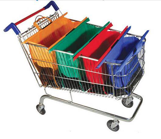 Non-woven material of supermarket trolley bag