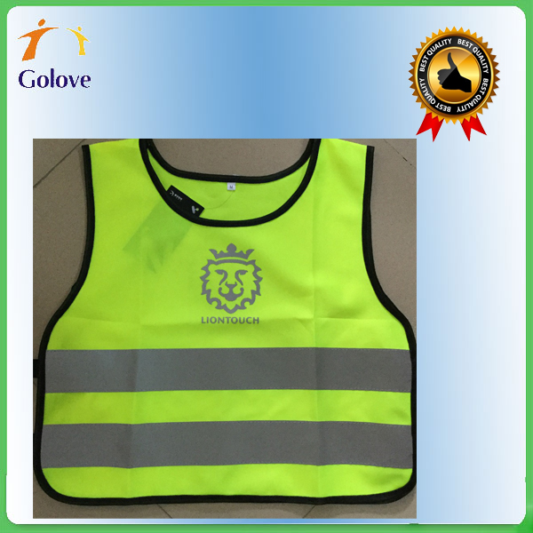 cheap 100% polyester mesh run reflective security vest