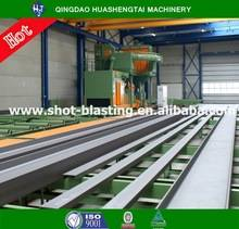 Efficiently H beam structure steel shot blasting machine / abrator in stock