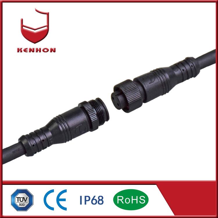M16 2 pin IP67 12V waterproof plug for underwater