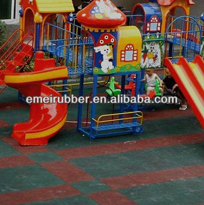 outdoor playground rubber flooring