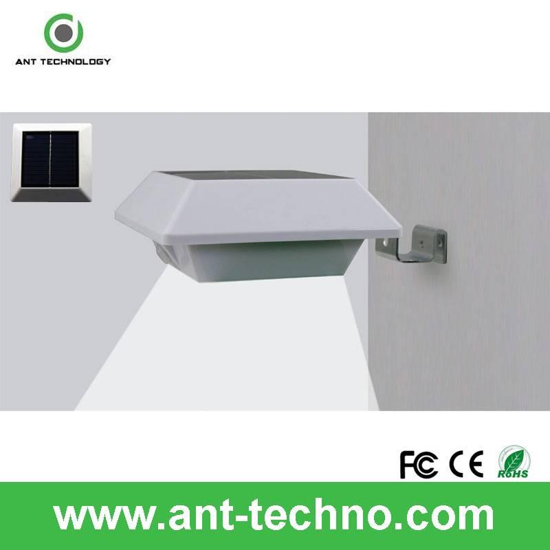 Motion Sensor Wall White LED Light Outdoor Solar Powered Garden