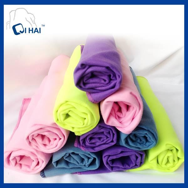 Microfiber suede solid color towel