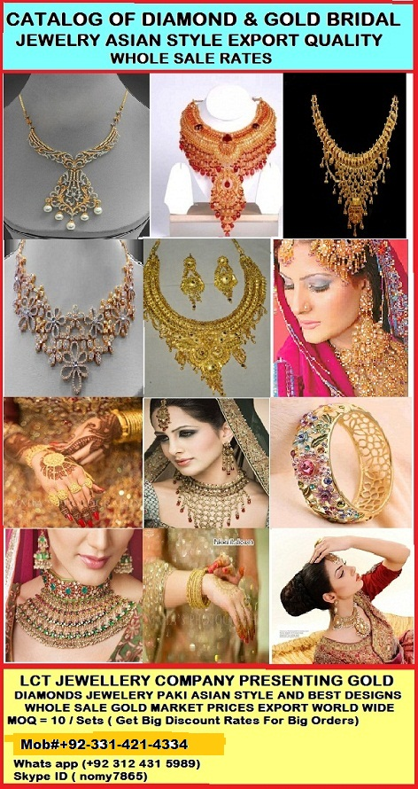 BRIDAL JEWELRY ANIMATED AND GOLD PLATED EXPORT QUALITY