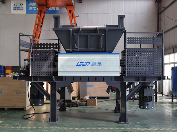 Solide waste shredder, double-shaft shredder
