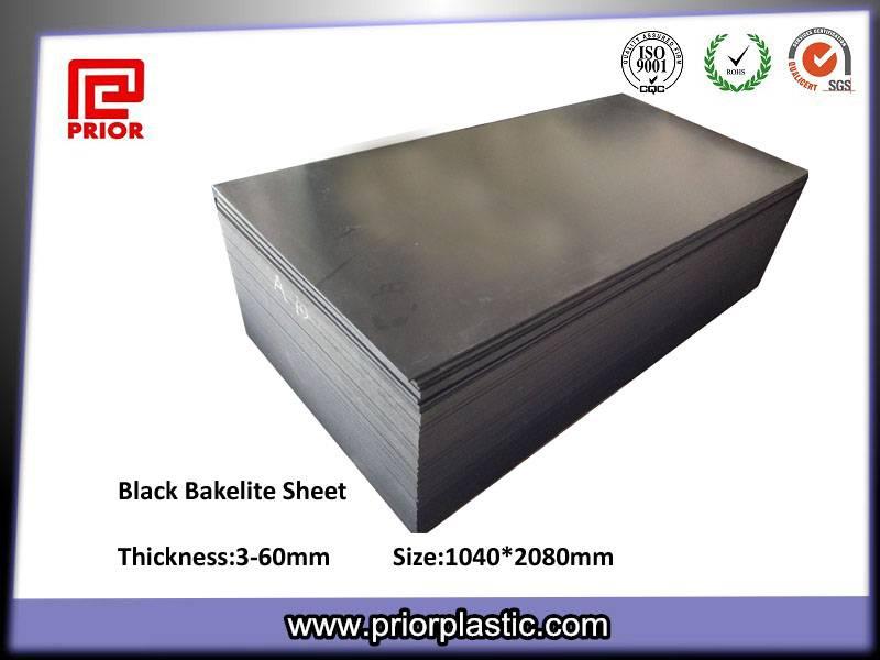 Antistatic bakelite sheet with good surface hardness