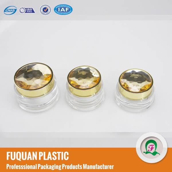 15g/30g/50g luxury cosmetic cream jars with diamond screw cap