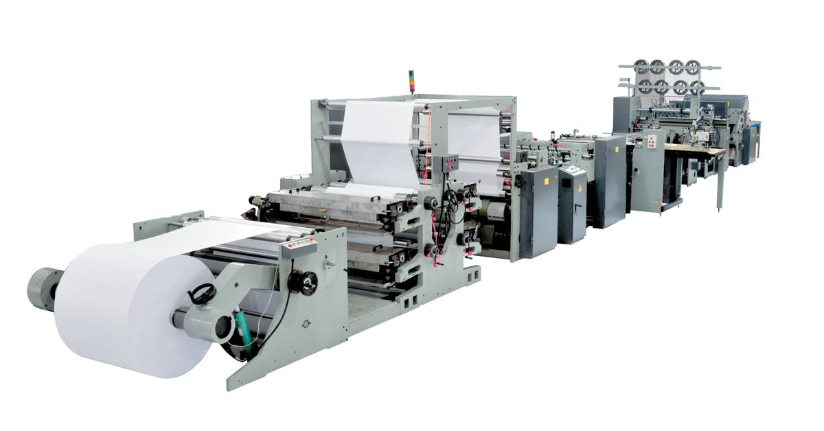 fully automatic flexographic printing wire stapled exercise book making machinery
