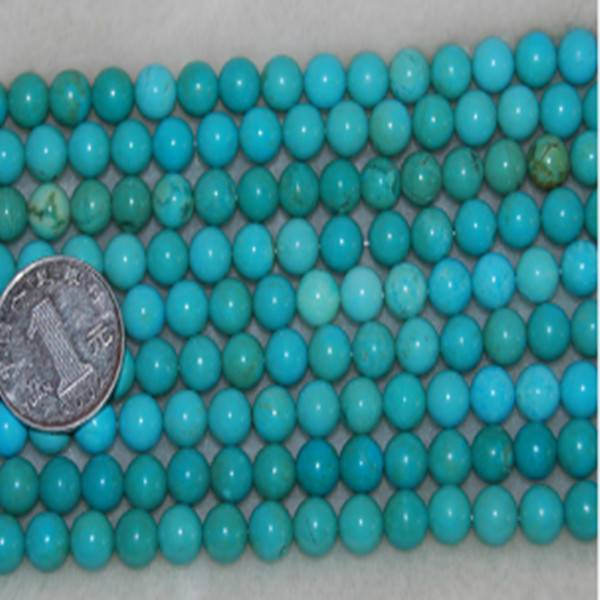 16 inches 8mm Round Natural Loose Turquoise Strands