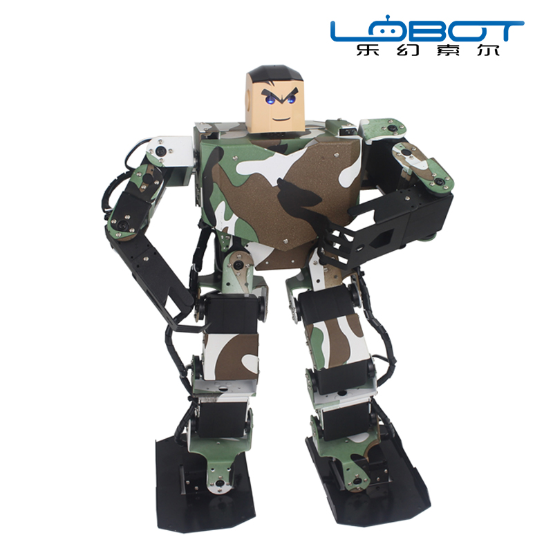 Dancing bipedal 17 DOF robotic education online programming The king of solider Humanoid dance robot
