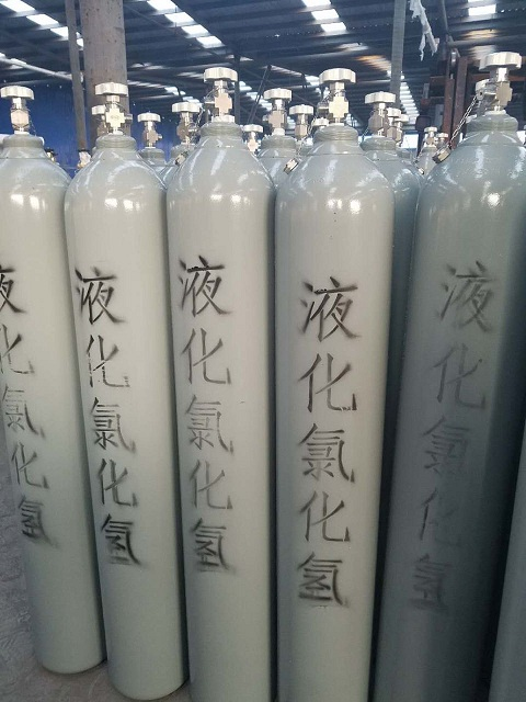 99.99% high purity colorless hcl gas