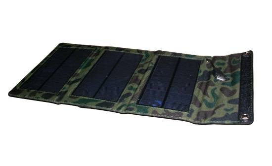 5W Foldable Solar Panel Charger for Mobile Phone, iPhone, iPad, Blackberry, PSP, Digital Camera...